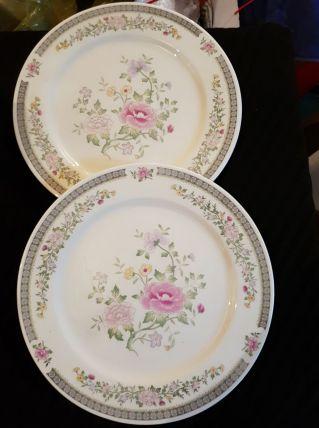 12 assiettes porcelaine fine