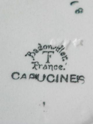 Lot 3 assiettes creuses Badonvillers modèle Capucines