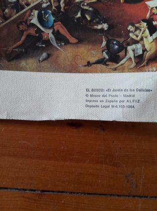 Reproduction Jerome Bosh sur papier tissé