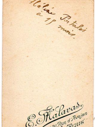photo ancienne enfant carte de visite vers 1900