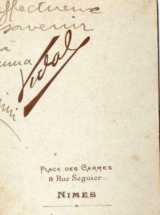 photo ancienne femme carte de visite vers 1900