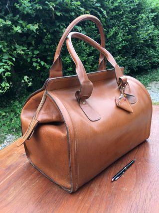 Sac voyage vintage cuir