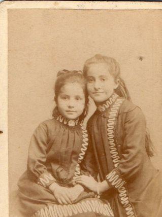 photo ancienne 2 enfants vers 1900