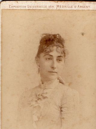 photo ancienne femme exposition universelle 1878