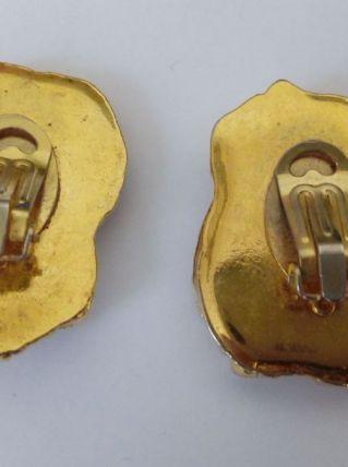 boucles d'oreille clips vintage