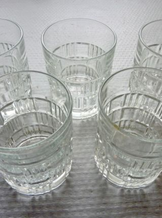 Lot de 5 verres à whisky