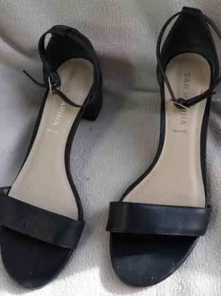sandales noires à talons