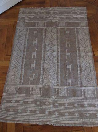 Tapis laine ethnique lama Pérou