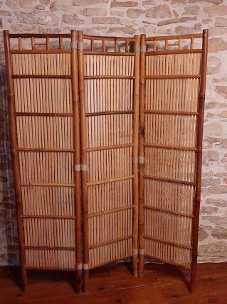 Paravent en bambou vintage