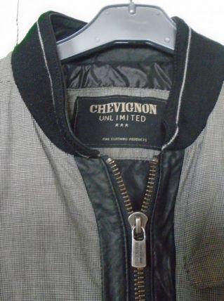 Blouson Chevignon coton et cuir