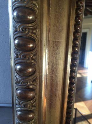 Beau trumeau doré grand format L115 x H148.