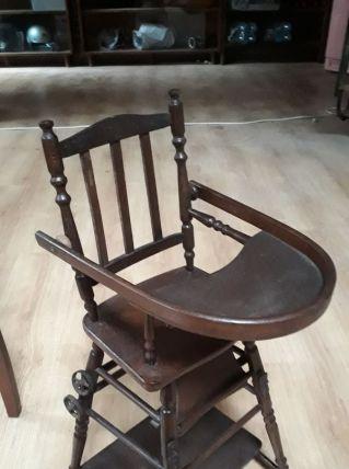 chaise de poupee  1930 a 40    ,  h 68cm