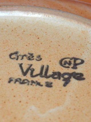 6 assiettes plates en grès Village CNP