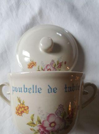 POUBELLE DE TABLE CERAMIQUE