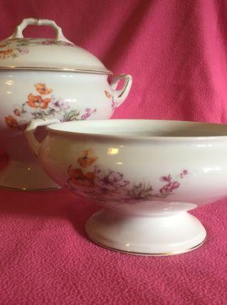 soupière et légumier en porcelaine