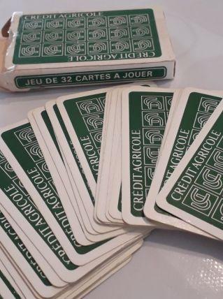 Jeu de 32 cartes publicitaire ancien Crédit Agricole
