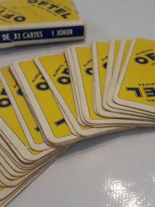 Jeu de 32 cartes publicitaire ancien OFTEL