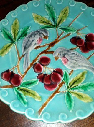 Assiette decorative sarreguemines