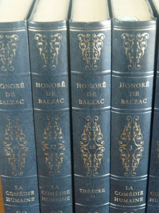 Oeuvres de Balzac -26 volumes -540pages.Reliure simili cuir