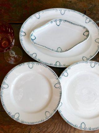 Série de plat en terre de fer