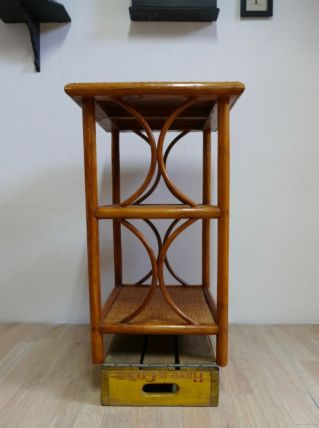 Table en bois et osier