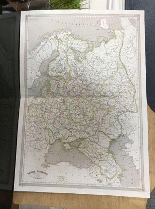 Carte géographique 19ème numérotée RUSSIE d'Europe
