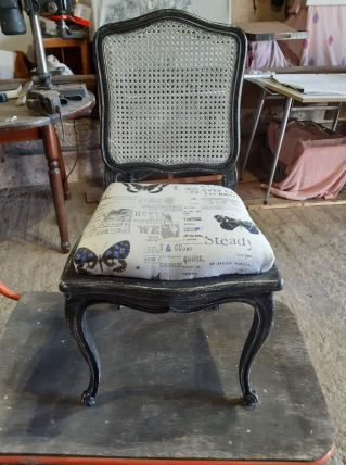 chaise relookée