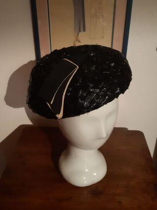 Chapeau paille de  riz ancien marine
