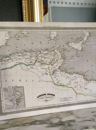 Carte géographique 19ème numérotée AFRIQUE propre