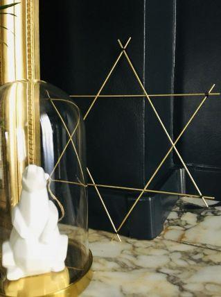 Etoile métal filaire doré