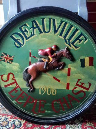 Joli tableau en bois Deauville