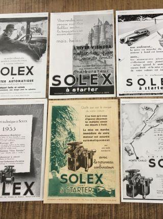 Lot 6 publicités années 30 SOLEX
