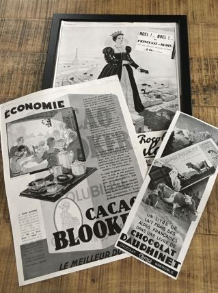 Lot 3 publicités années 30 chocolat