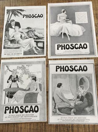 Lot 4 publicités années 30 PHOSCAO