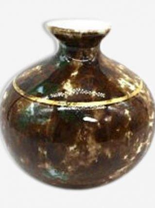 vase boule emaillee en porcelaine de Limoges