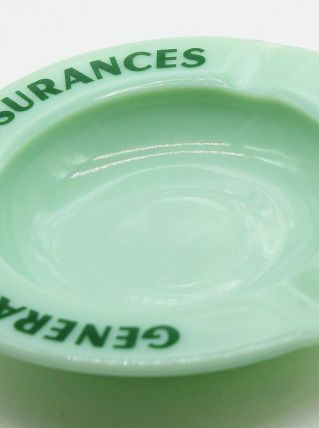 Cendrier compagnie générale d'assurance en opalex