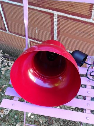 Suspension en métal rouge ikéa