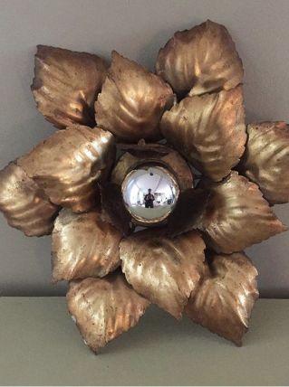 Lampe applique fleur vintage