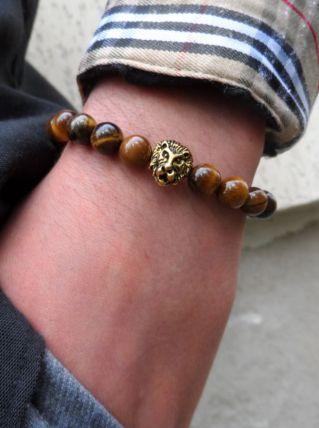 Bracelet oeil de tigre / tête de lion