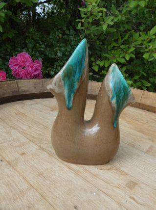 joli vase double en céramique de Vallauris