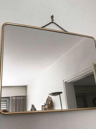 Miroir de barbier doré vintage