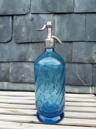 Beau siphon torsadé bleu