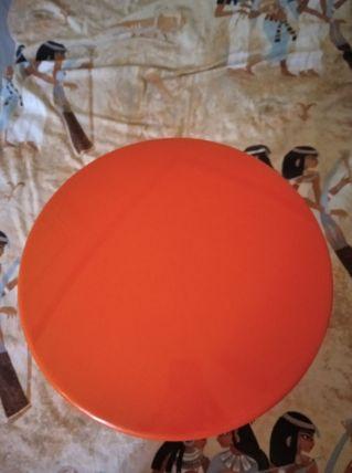 Tabouret tamtam vintage orange