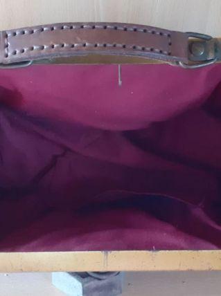 sac a main cuir vintage
