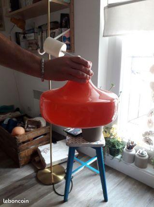 plafonnier opaline orange