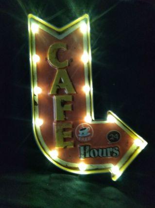 ENSEIGNE LUMINEUSE CAFE