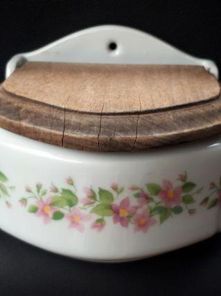 Boîte à  sel  porcelaine