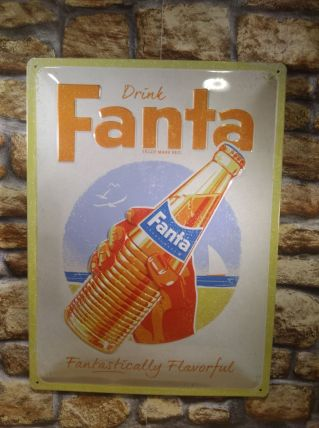 PLAQUE EN RELIEF FANTA