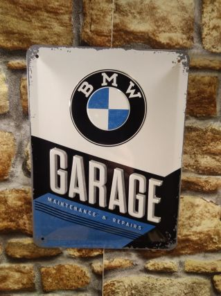 PLAQUE METAL EN RELIEF BMW