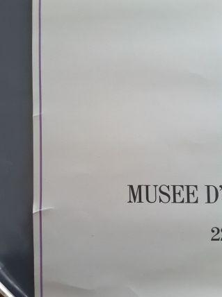 Ancienne affiche expo du musée art contemporain de Dunkerque